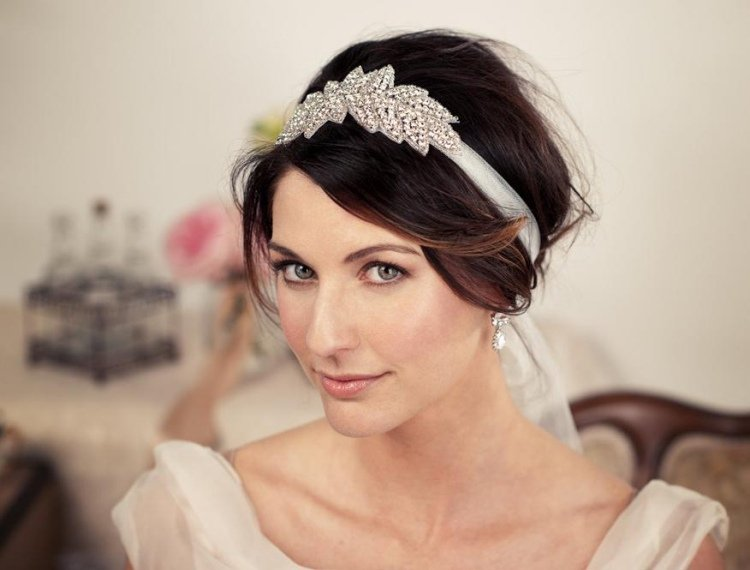 Coiffure Mariage Cheveux Courts Bandeau Strass Goodbye Mademoiselle