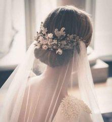 Coiffure mariage cheveux courts voile mariée